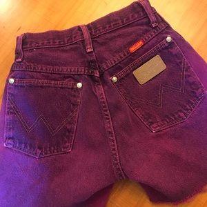 Vintage High Waist Wrangler Shorts